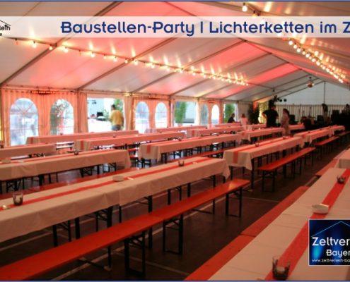AVNET Baustellenparty Poing Zeltverleih Oberbayern
