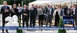 Grundsteinlegung Europäische Schule Zeltverleih Oberbayern
