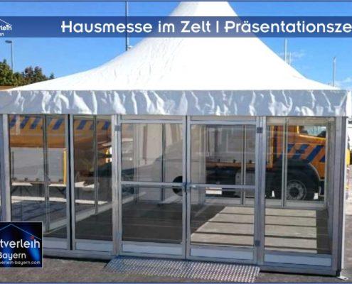Hausmesse im Zelt Zeltverleih Oberbayern