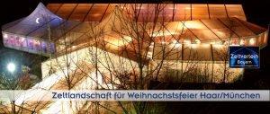 Weihnachtsfeier im Zelt Zeltverleih Oberbayern und München