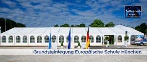 Grundsteinlegung Zeltverleih Oberbayern und München
