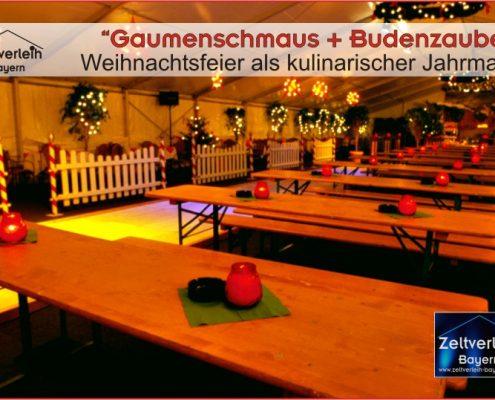 Weihnachtsfeier im Zelt Zeltverleih Oberbayern