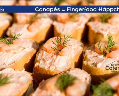 Canapés Fingerfood Häppchen von Zeltverleih Catering Oberbayern