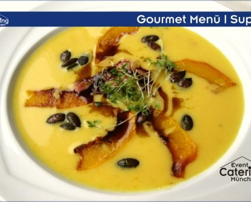 Gourmet Menü Suppe Catering Oberbayern