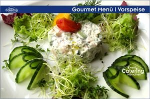 Gourmet Menü Vorspeise Catering Oberbayern